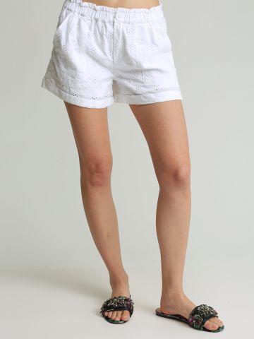 מכנסיים קצרים בעיטור רקמה