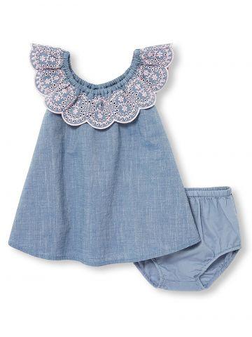 שמלת ג'ינס עם מלמלה רקומה