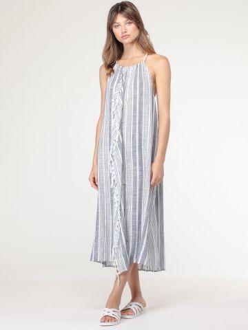 שמלת סרונג קולר עם גב פתוח