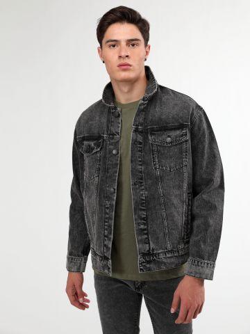 ג'קט ג'ינס ווש עם כיסים