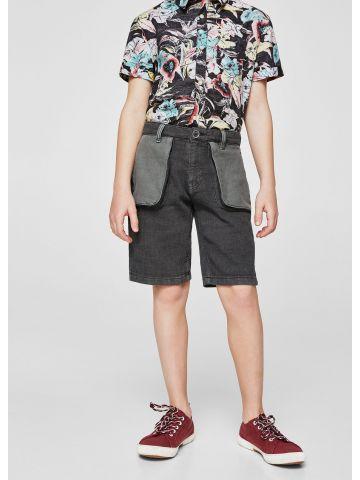 מכנסי ברמודה עם כיסי פאץ' חיצוניים / בנים