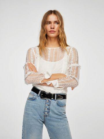 חולצת רשת ארוכה
