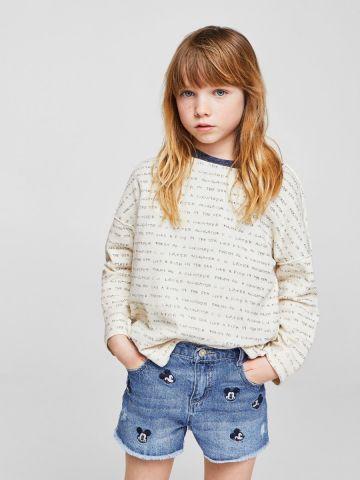 ג'ינס קצר מיקי מאוס / בנות