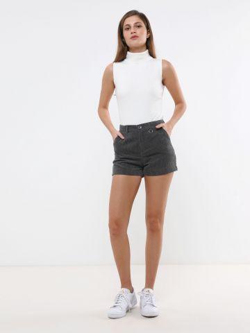 מכנסי קורדרוי קצרים