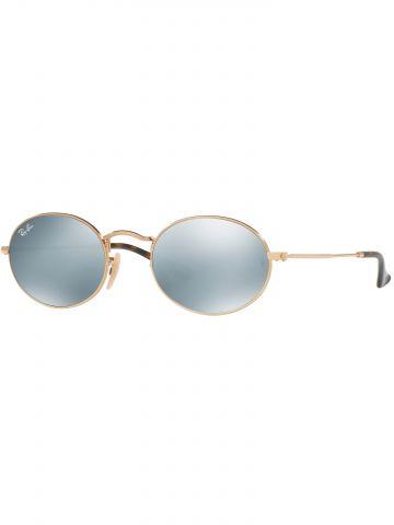 משקפי שמש אובליים עם עדשות מראה שטוחות Oval Metal