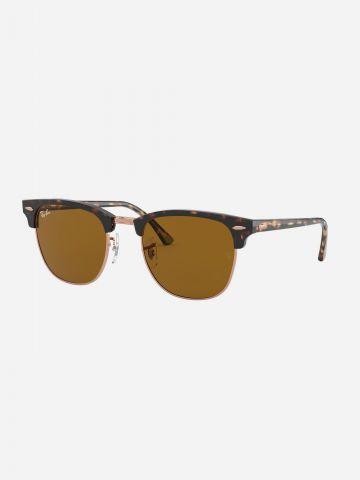 משקפי שמש עם בסגנון מנומר Clubmaster / נשים של RAY-BAN