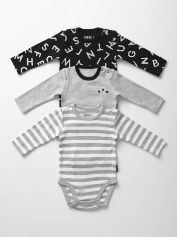מארז 3 בגדי גוף בהדפסי מונוכרום / בייבי