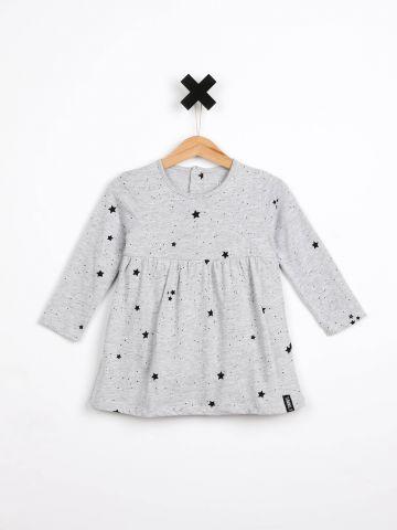 שמלת בגד גוף בהדפס כוכבים / בייבי בנות