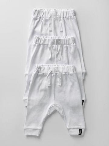 מארז 3 מכנסי תינוק חלקים / בייבי