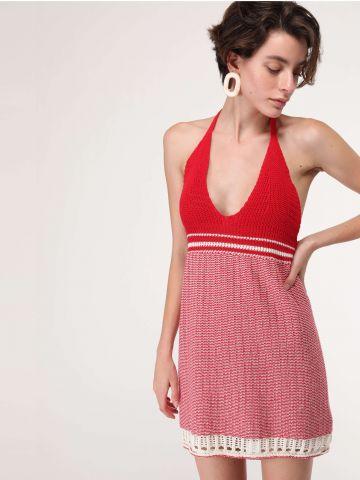 שמלת קרושה קשירה בגב