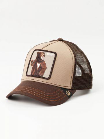 כובע מצחייה עם פאץ' גריזלי