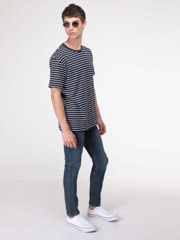 ג'ינס סקיני סלים בשטיפה כהה 519