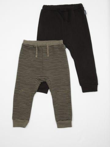 מארז 2 מכנסי טרנינג פוטר עבה / בייבי בנים