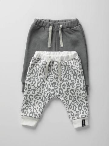 מארז 2 מכנסי טרנינג פוטר / בייבי בנות