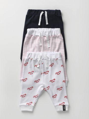 מארז 3 מכנסיים בהדפסים שונים / בייבי בנות