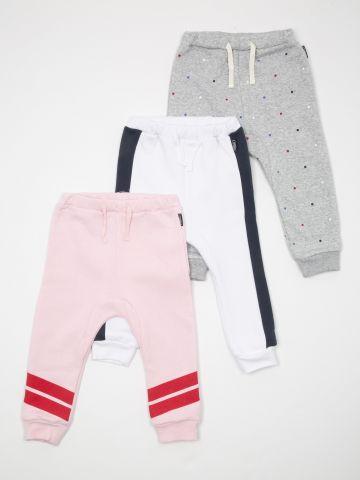 מארז 3 מכנסי פוטר בהדפסים שונים / בייבי בנות