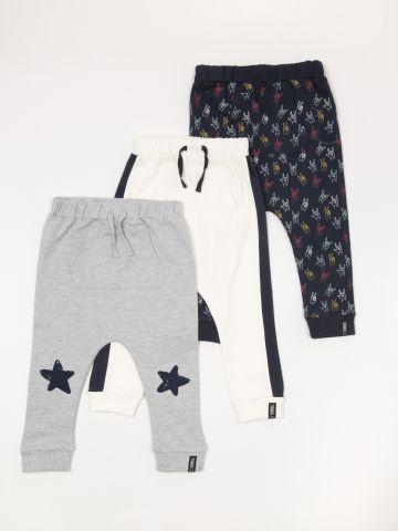 מארז 3 מכנסי טרנינג בהדפסים שונים / בייבי בנים