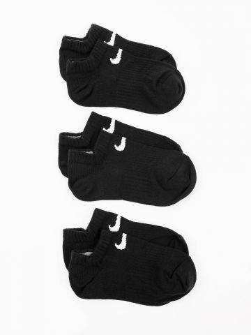 מארז 3 זוגות גרביים נמוכים עם לוגו / גברים