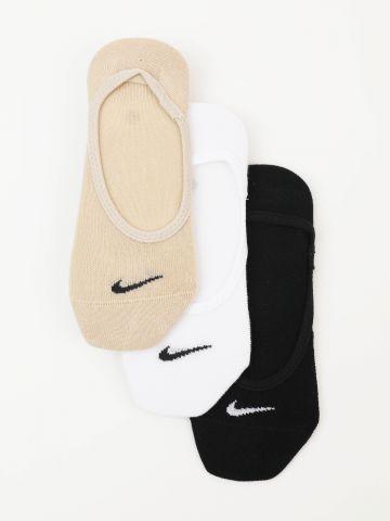 מארז 3 זוגות גרביים נמוכים עם לוגו / נשים