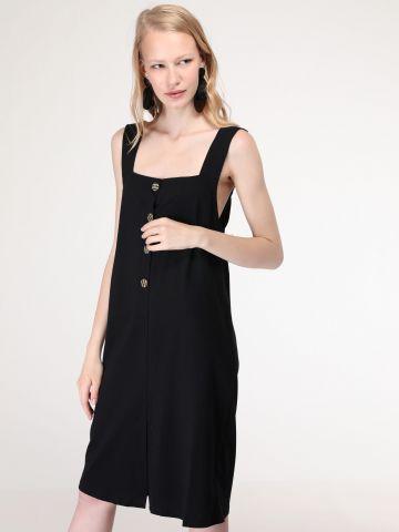 שמלת מידי בשילוב כפתורים