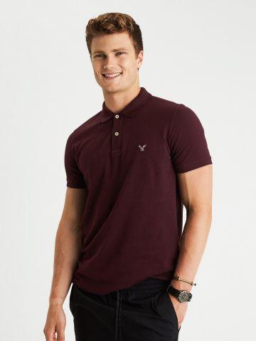 חולצת פולו קלאסית לוגו של AMERICAN EAGLE