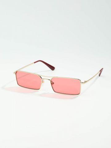 משקפי שמש מלבניים עם גשר Gigi Hadid