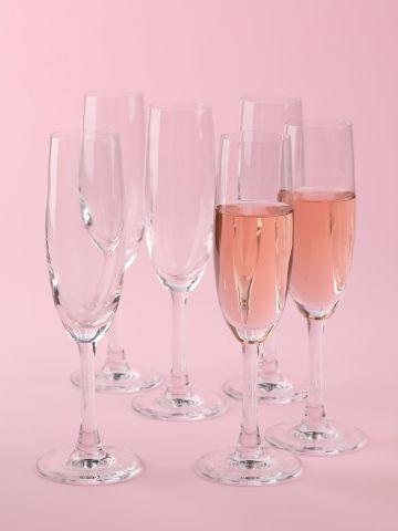מארז 6 גביעי שמפניה Crystal