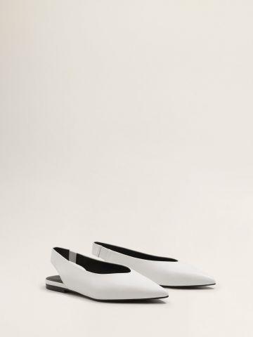 נעלי סירה עור עם קצה מחודד