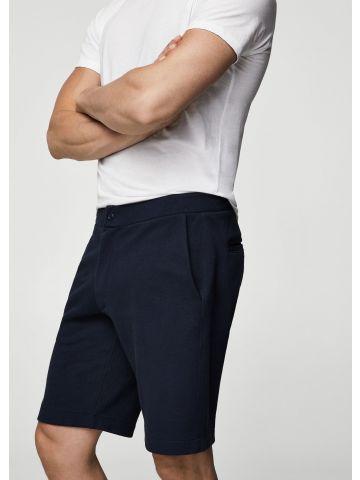מכנסי ברמודה פיקה מחויטים
