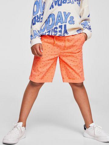 מכנסי ברמודה בהדפס צורות גיאומטריות / בנים