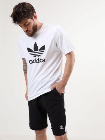 מכנסי טרנינג קצרים שלושה פסים