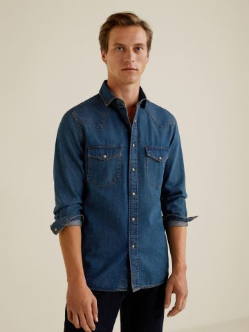 חולצת ג'ינס Slim-fit