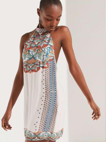 שמלת מיני קולר בהדפס בוהמי UO