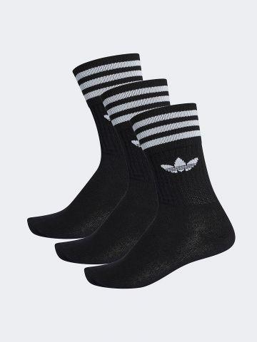 מארז 3 זוגות גרביים גבוהים שלושה פסים / יוניסקס