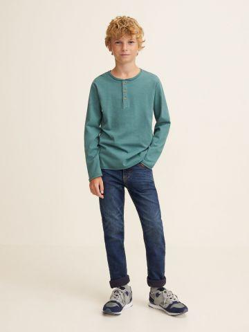 ג'ינס עם קיפול בסיומת / בנים