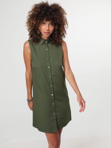 שמלת מיני מכופתרת