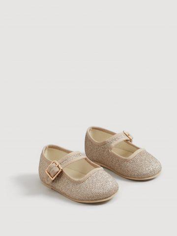 נעלי בובה עם אפקט מנצנץ / בייבי בנות