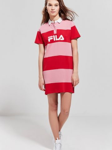 שמלת מיני פולו קולור בלוק Fila