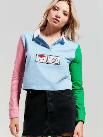 חולצת פולו קולור בלוק עם שרוולים ארוכים Fila