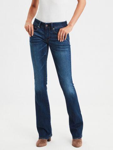 ג'ינס מתרחב בשטיפה כהה Kickboot