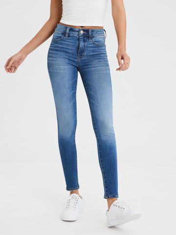 ג'ינס סקיני סטרצ' עם הלבנה High Rise Jegging של AMERICAN EAGLE