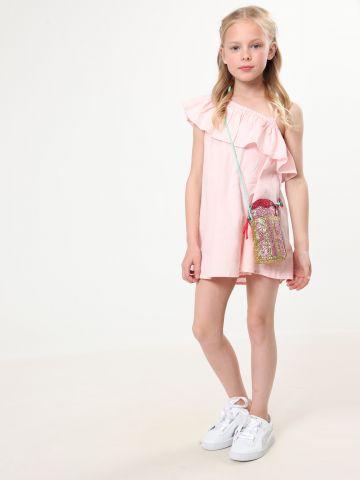 שמלת קולד שולדר עם מלמלה