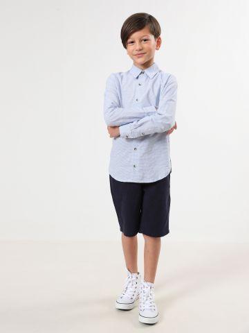 חולצה מכופתרת בהדפס פסים / בנים של TERMINAL X KIDS