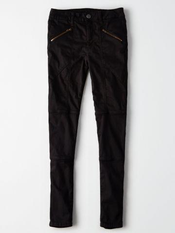 ג'ינס סקיני סטרצ' עם כיסים אלכסוניים High Rise Jegging