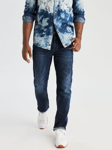 ג'ינס בגזרה ישרה עם הלבנה Original Straight