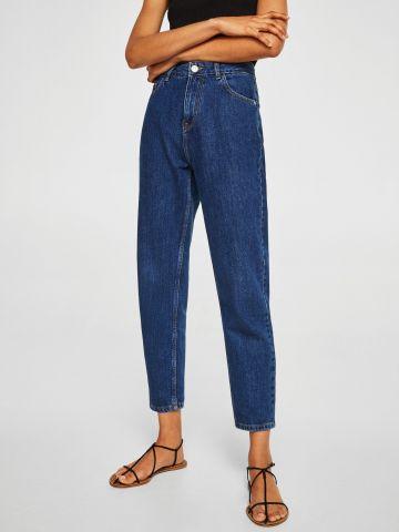 ג'ינס MOM בשטיפה כהה מכותנה אורגנית