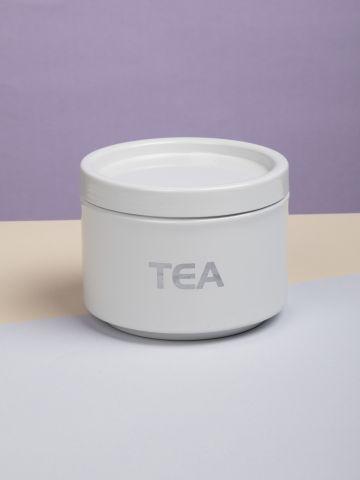 קופסת נירוסטה עגולה לאחסון תה