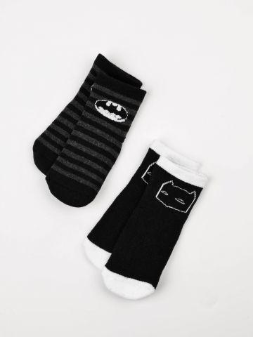מארז 2 זוגות גרביים בהדפס באטמן / בייבי בנים