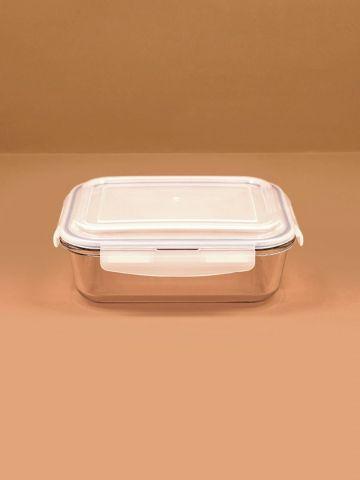 קופסת זכוכית למזון עם מכסה פלסטיק 1520 מ״ל