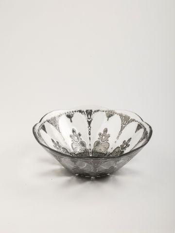 קערית מזכוכית עם עיטורים דקורטיביים Roccoco